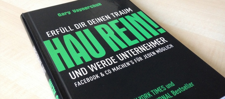 """We recommend the book """"Hau Rein und werde Unternehmen"""" if you want to start a successful social media marketing campaign."""