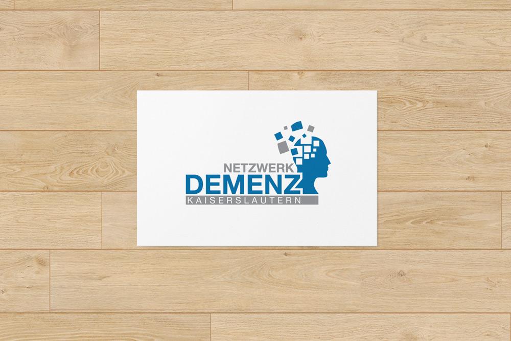 Logogestaltung: Für das Netzwerk Demenz in Kaiserslautern haben wir das Logo gestaltet.