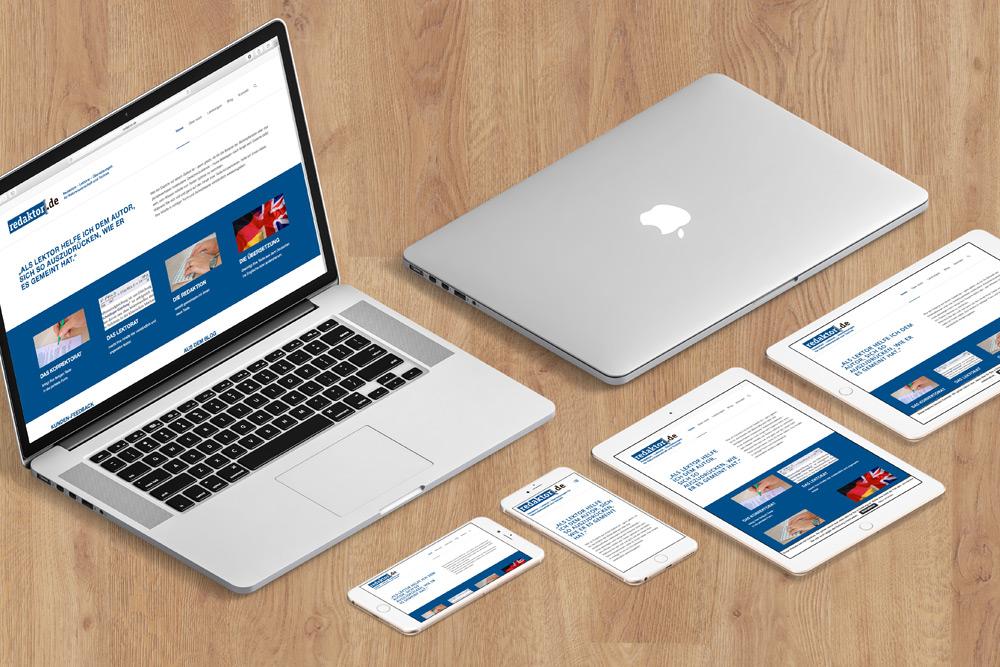 Redaktor, Lektorat und Übersetzungsbüro, präsentiert sich online mit neuer Website. Die Website Entwicklung wurde von AdvantiDesign übernommen.