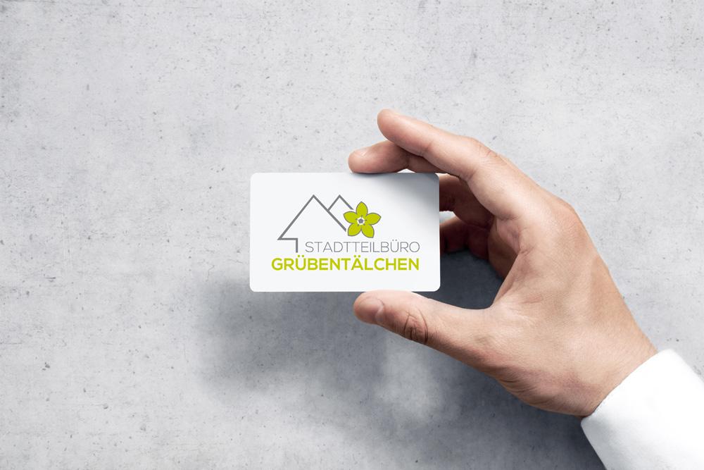 Logogestaltung: Für das Stadtteilbüro Grübentälchen habe wir das Logo gestaltet.