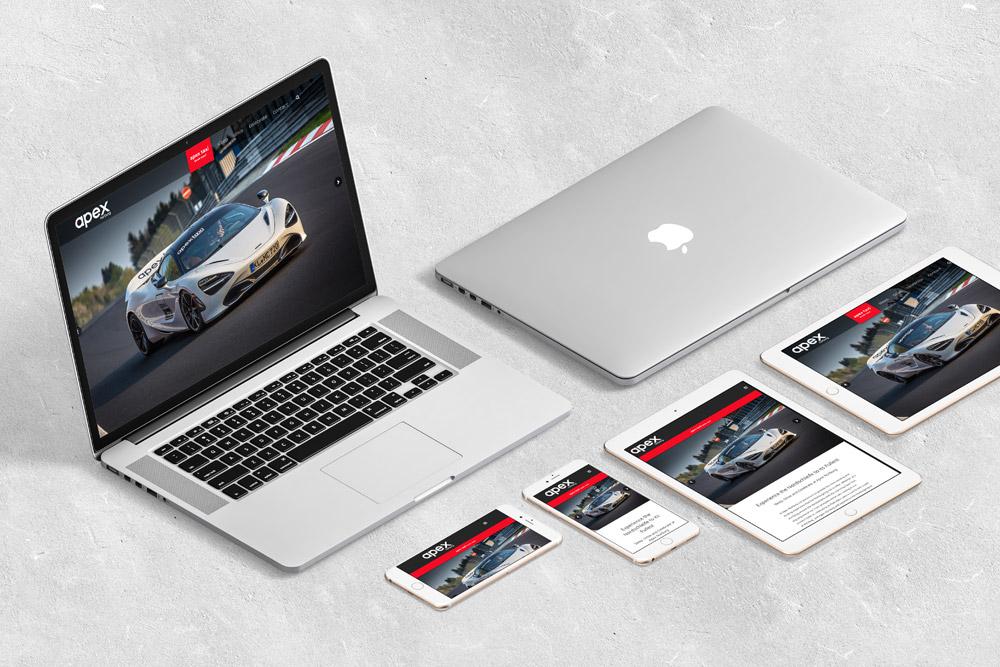 Website Gestaltung: Für Apex Nürburg haben wir eine neue Website gestaltet auf der alle wichtigen Infos zum Autoverleih oder zur Hotelübernachtung zu finden sind.