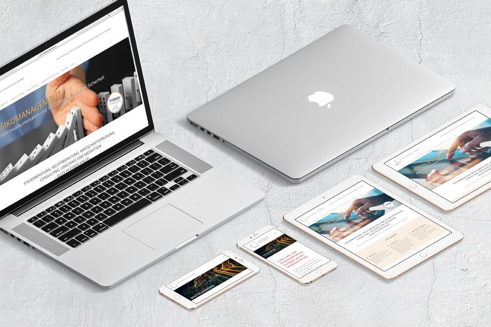 Die Website Entwicklung für Asmus Kamchen Koch Wermke basiert grafisch auf dem Corporate Design der Firma, so dass alle Werbematerialien einen hohen Wiedererkennungswert haben.