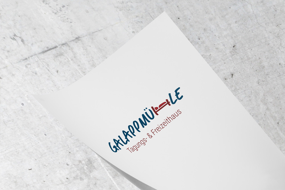 The logo design for the Galappmühle in Kaiserslautern was only one of many design projects we did for the conference and leisure house.