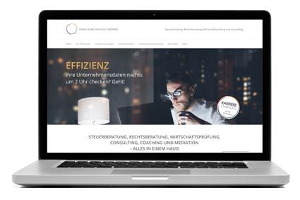 Website Entwicklung, Gestaltung und Programmierung für die Rechtsanwälte und Steuerberater von Asmus Kamchen Koch Wermke in Kaiserslautern.