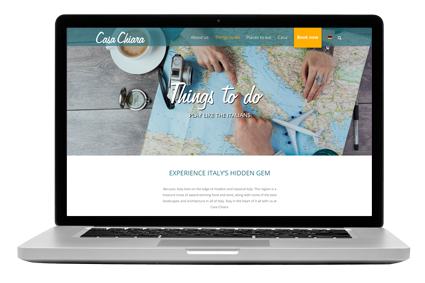 Website Entwicklung, Gestaltung und Programmierung für den den Ferienhausvermieter von Casa Chiara.